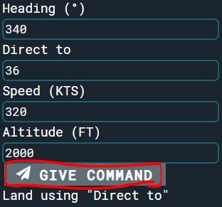Select runway command